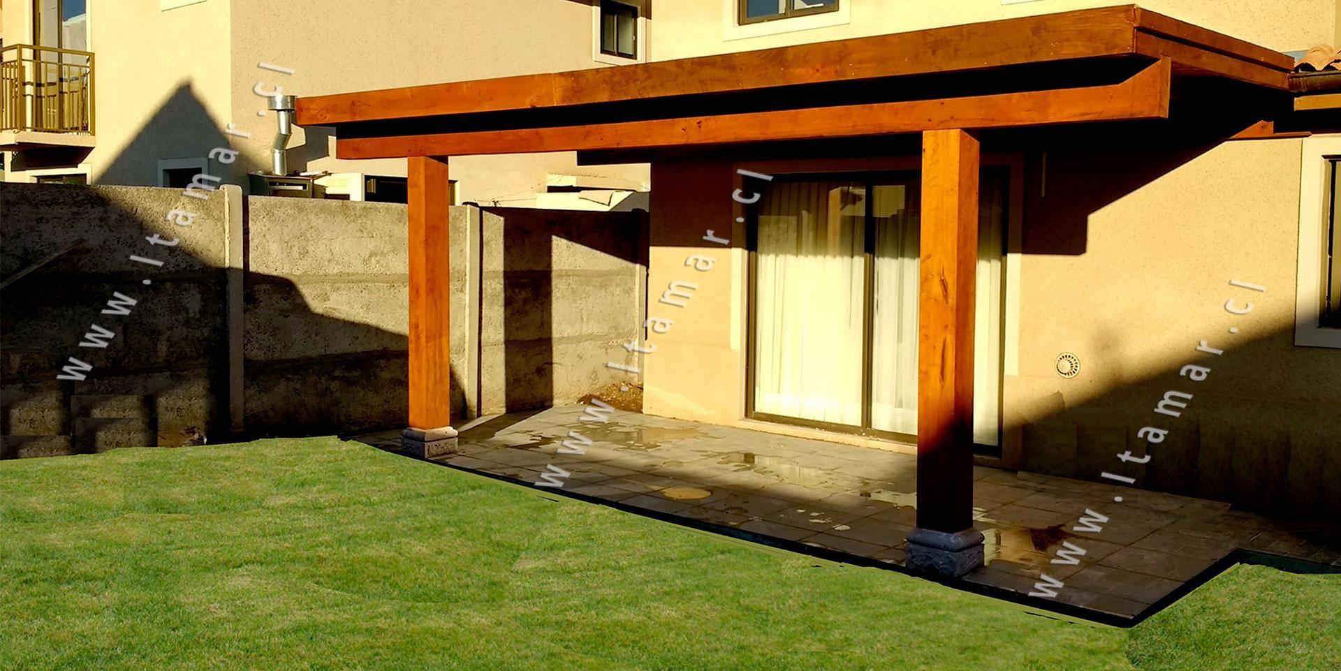 Pergolas de madera quinchos itamar terrazas de madera - Terrazas de madera precios ...